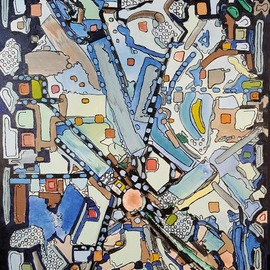 Dave Martsolf, , , Original Painting Oil, size_width{Urban_Planning-1542573577.jpg} X 24 inches