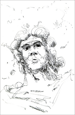 Dave Martsolf, Carnival Surrealism, 1979, Original Drawing Pen, size_width{Zeus-1458836699.jpg} X 8 inches