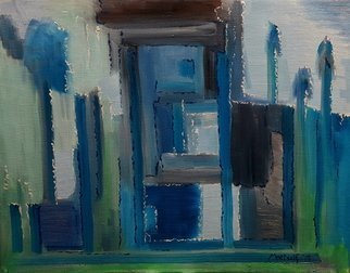 Dave Martsolf; Blue House, 2019, Original Painting Oil, 14 x 11 inches. Artwork description: 241 If purchased, this artwork will ship framed, wired, and ready to hang. ...