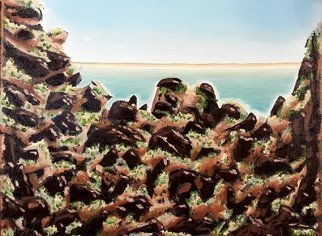 Dave Martsolf; Breakwater Rockpile, 2020, Original Painting Oil, 14 x 11 inches. Artwork description: 241 This painting will be shipped framed, wired and ready to hang. ...