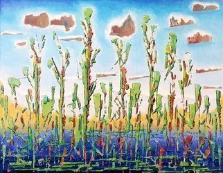 Dave Martsolf; Cattails, 2020, Original Painting Oil, 14 x 11 inches. Artwork description: 241 This painting will be shipped framed, wired and ready to hang. ...