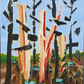 Dave Martsolf, , , Original Painting Oil, size_width{fried_bacon_trees-1539201954.jpg} X 20 inches