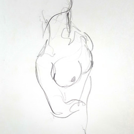 Dave Martsolf, , , Original Drawing Pencil, size_width{nude-1517188017.jpg} X 8.5 inches