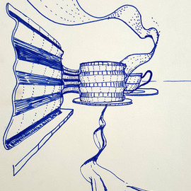 Dave Martsolf, , , Original Drawing Pen, size_width{ribbons-1539202688.jpg} X 8 inches