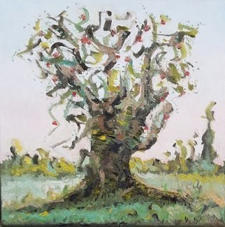 Dave Martsolf, 'The Old Fruit Tree', 2019, original Painting Oil, 12 x 12  x 1 inches. Artwork description: 1911 If purchased, this work will ship framed, wired and ready to hang. ...