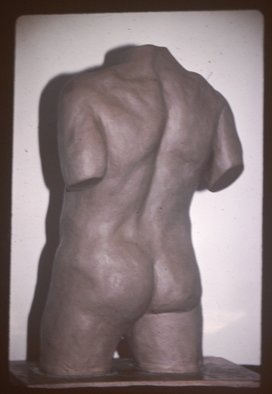 David Rocky Aguirre; Male Missing 2, 1997, Original Sculpture Ceramic, 6 x 11 inches. Artwork description: 241  Missing from the Fullerton Calif area 1997. D. Aguirre stamped on side. ...