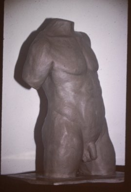 David Rocky Aguirre; Male Missing 3, 1997, Original Sculpture Ceramic, 6 x 11 inches. Artwork description: 241  Missing from the Fullerton Calif area 1997. D. Aguirre stamped on side. ...