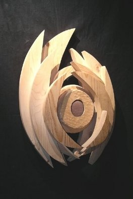 David Chang; Eye Of The Wind, 2004, Original Sculpture Wood, 18 x 26 inches.