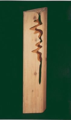 David Chang; Flowing River, 2004, Original Sculpture Wood, 46 x 21 inches.