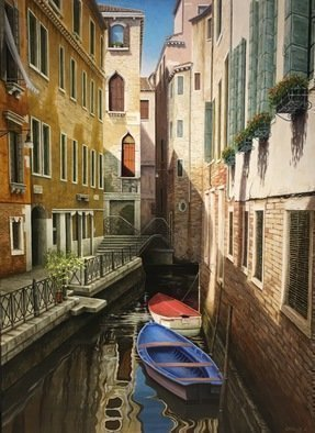 David Larkins; Bella Venezia, 2016, Original Printmaking Giclee, 18 x 24 inches. Artwork description: 241 Venice, an archipelago of islands and canals is one of the few cities that was never