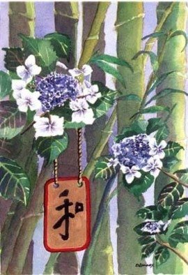 Debra Lennox; Prayer For Peace, 2003, Original Watercolor, 16 x 20 inches. Artwork description: 241  The Japanese hang prayer requests from trees and bushes along the pathways to their temples. This is my prayer request for peace following the attack on the World Trade Center in NYC. ...