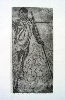 Dennis Duncan; Let There Be Food Water Salt, 1993, Original Printmaking Etching, 11 x 17 inches.