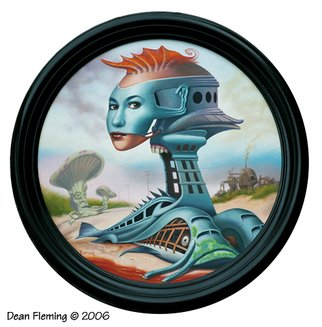 Dean Fleming; Libre, 2006, Original Painting Oil, 14 x 14 inches. Artwork description: 241   One in a series of images depicting the landscape of the imagination.  ...