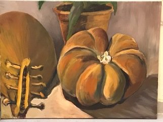 Debbie Jacobson; Pumpkin, 2018, Original Painting Oil, 50 x 30 inches.