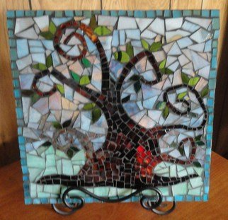 Debbie Murrell; My Tree, 2012, Original Glass, 12 x 12 inches. Artwork description: 241    Glass on Glass Mosaic.  All hand cut glass.  The tree I remember most.  ...