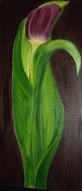 Serena Delossantos; Womanly Tulip, 2010, Original Painting Acrylic, 24 x 42 inches.