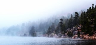 Dennis Gorzelsky; Misty Morning, 2016, Original Photography Digital, 38 x 18 . Artwork description: 241 A small mountain lake has a magical feel as the mist rolls away and the trees and boulders emerge. ...