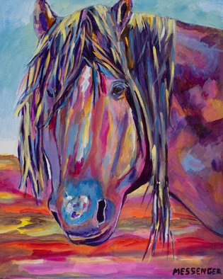 Denise Messenger; The Wise One, 2018, Original Painting Acrylic, 16 x 20 inches. Artwork description: 241 Original acrylic on canvas Impressionistic fine art horse painting 16 x 20 inches in a black floater frame. ...