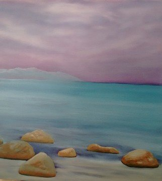 Denise Seyhun; Las Piedras, 2017, Original Painting Oil, 30 x 30 inches. Artwork description: 241 Beach, playa, sandy beach, seascape, serenity, tranquility, meditation...