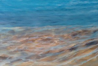 Denise Seyhun; Seabed, 2017, Original Painting Oil, 12 x 9 inches. Artwork description: 241 Seascape, water, sea life, sea bed, waves, beach, shore, tranquility, serenity...