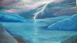 Denise Seyhun; Stormy Night, 2017, Original Painting Oil, 24 x 18 inches. Artwork description: 241 Storm, sea world, seascape, lightning, stormy night...