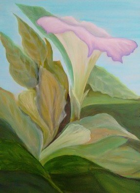 Denise Seyhun; Trumpet Vine, 2017, Original Other, 24 x 30 inches. Artwork description: 241 Floral, flower, garden...