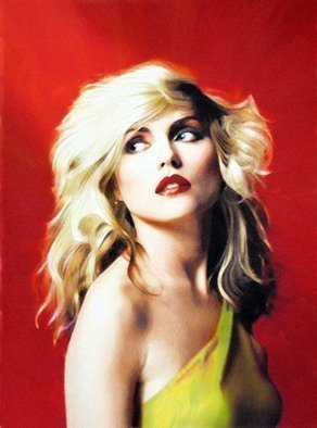 Dennis Mccallum; Pure Blondie, 2015, Original Mixed Media, 15 x 25 cm. Artwork description: 241   Mythology peacock            Debbie Harry Blondie popstar  ...