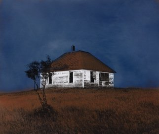 Denny Moers; Prairie Dwelling 1, 1995, Original Photography Other, 15 x 16 inches. Artwork description: 241  This is a archival pigment print from an original silver chloride darkroom based photographic monoprint. Visit my website for more process info. ...