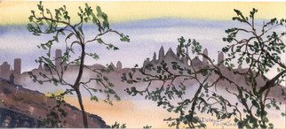 Deborah Paige Jackson; China Scene, 2002, Original Watercolor, 9 x 6 inches. Artwork description: 241 China scenery...