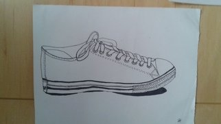 Chidera Orji; Canvas Shoes , 2016, Original Drawing Marker, 312 x 233 mm. Artwork description: 241  Canvas shoes is an original artwork by Chidera Orji using sharpie markers on cardboard paper.  ...