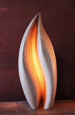 Dermot O'Brien; Grace, 2014, Original Sculpture Wood, 15 x 35 cm. Artwork description: 241    Light sculpture maple wood lamp   ...
