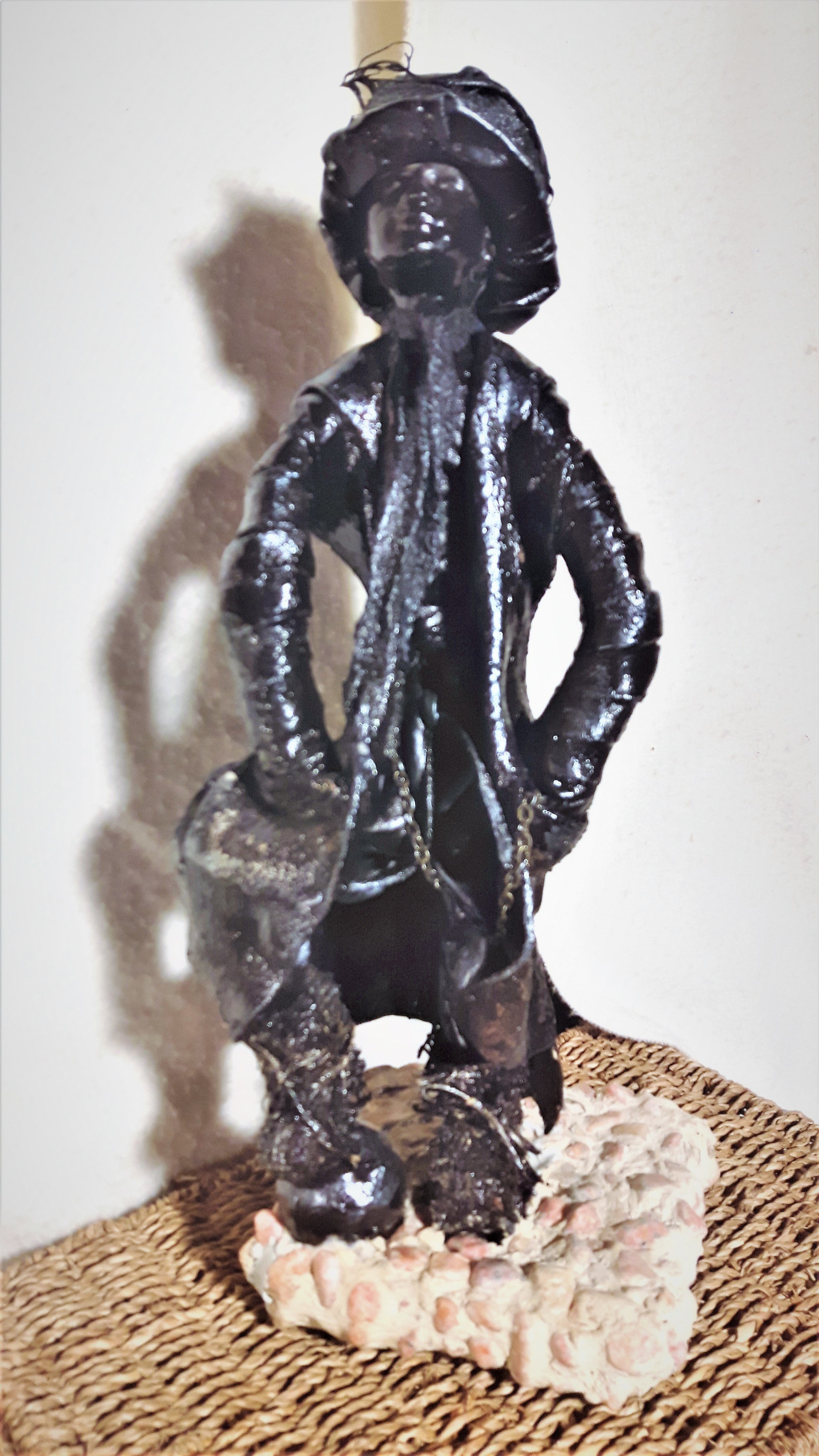 Laura Scott; dandy man, 2016, Original Mixed Media, 5 x 14 inches. Artwork description: 241 victorianfabricsculpturestonedandy manhand crafted...