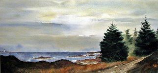 Don F Bradford; Path To Ucluelet, 2015, Original Watercolor, 34 x 16 inches. Artwork description: 241 Realism Imprestionistic From on site sketch western Vancouver...