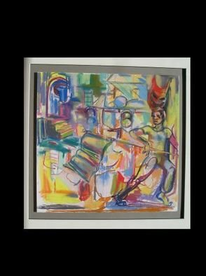 Denise Katz; Band of Mercy study, 2006, Original Pastel, 30 x 32 inches. Artwork description: 241  study for the play Band of Mercy ...