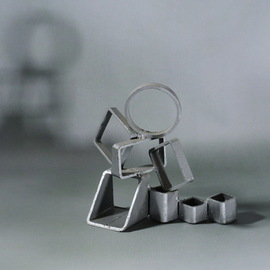 Diana Carey, , , Original Sculpture Steel, size_width{circles_squares-1502739467.jpg} X 6 inches