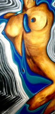 Diana Doctorovich; La Petit Morte, 2007, Original Painting Acrylic, 70 x 140 cm. Artwork description: 241     woman, nude        ...