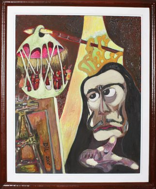 Dilyan Dochev; Salvador Dali, 2008, Original Painting Oil, 40 x 50 cm. Artwork description: 241   Shopen, music, Dilyan Dochev, DiL, art, original  ...
