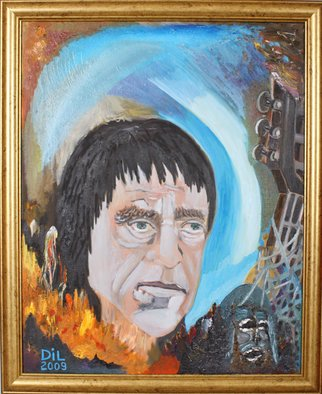 Dilyan Dochev; Vladimir Visozki, 2008, Original Painting Oil, 40 x 50 cm. Artwork description: 241  portrait, music, Dilyan Dochev, DiL, art, original   ...