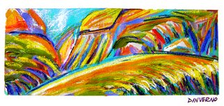 James Dinverno; Zion, 2009, Original Mixed Media, 36 x 16 inches. Artwork description: 241  Mixed Media Artwork offered as a Signed Limited Edition ( 150) Giclee Canvas Print. Varnish finish is applied to each print, insuring color brilliance. Accompanying Certificate of Authenticity is hand signed and numbered by the artist, unframed. ...