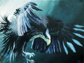 Igor Benner; Majestic Eagle, 2015, Original Painting Acrylic,   inches.