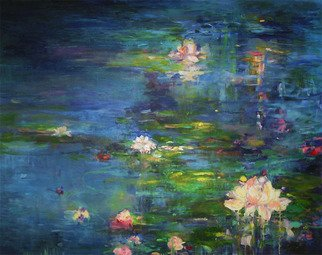 Danuta K Frydrych; Lilies, 2010, Original Painting Oil, 48 x 60 inches.