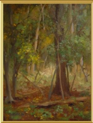 Diana K. Gibson; In The Woods, 2005, Original Painting Oil, 14 x 12 inches.