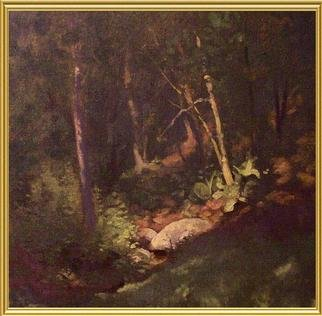 Diana K. Gibson; Woodland Interior, 2005, Original Painting Oil, 12 x 14 inches.