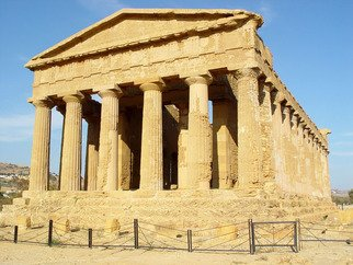 David Bechtol; Temple of Concord, 2002, Original Photography Color, 14 x 11 inches. Artwork description: 241  Temple of Concord in the Valley of Temples area in Agrigento, Sicily ...