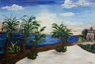 Deborah Leyva; Tampa Rising, 2012, Original Painting Acrylic, 8 x 10 inches. Artwork description: 241  This work was created to show the beautiful sunrise across Tampa Bay in the morning. The original has been donated to the Univeristy of Tampa. Prints are available. ...
