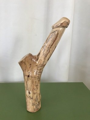 David Maranzana; Phallic Wood Sculpture, 2020, Original Sculpture Wood, 7 x 35 cm. Artwork description: 241 Phallic sculpture of about 35 cm,  Australian artist. Aboriginal influence. Not a sex toy object but an artistic and symbolic sculpture. All worked by hand without machinery  only chisels and hand grinding. The wood is Australian olive, a very good quality wood  an oily wood  that lasts ...