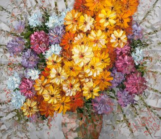 Dmitry Kustanovich; Autumn Bouquet, 2018, Original Painting Oil, 90 x 80 cm. Artwork description: 241 Painting, Figurative Art, Impressionism, Trompe- l A