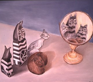 Dung Nguyen; A Family Affair, 2001, Original Painting Oil, 24 x 22 inches.
