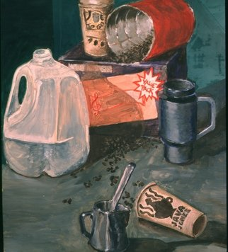 Dung Nguyen; JAVA, 2001, Original Painting Oil, 18 x 22 inches.