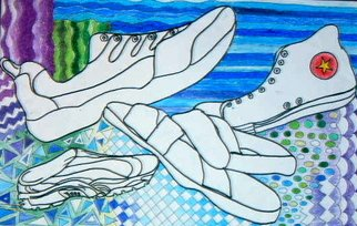 Dung Nguyen; Shoes R Us, 2006, Original Drawing Marker, 18 x 24 inches.